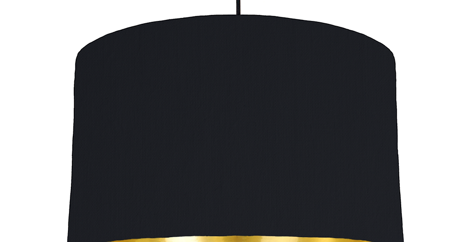 Black & Gold Mirrored Lampshade - 40cm Wide