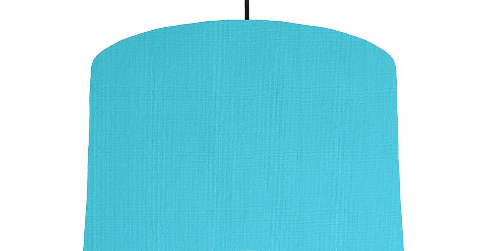Turquoise & Light Grey Lampshade - 30cm Wide