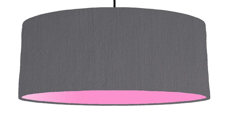 Dark Grey & Pink Lampshade - 70cm Wide