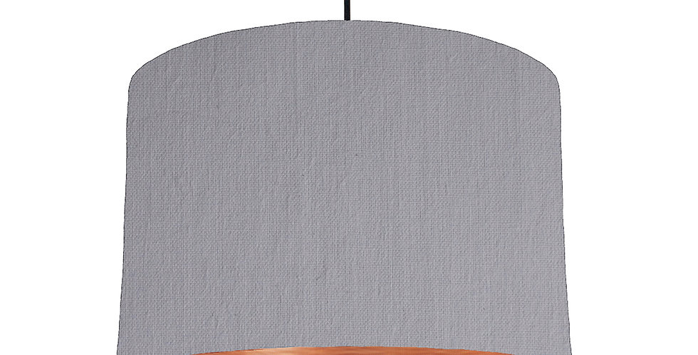 Light Grey & Brushed Copper Lampshade - 30cm Wide