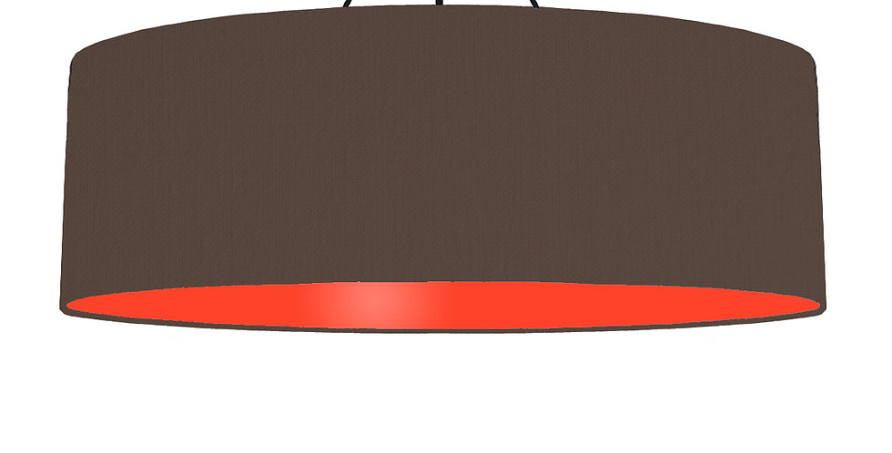 Brown & Poppy Red Lampshade - 100cm Wide