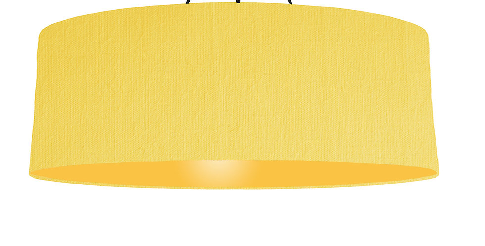 Lemon & Butter Yellow Lampshade - 100cm Wide