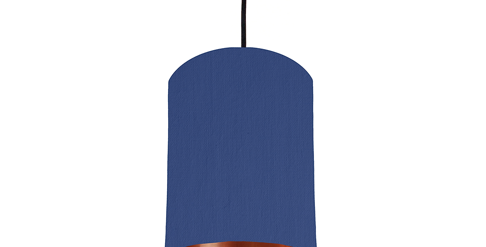 Royal Blue & Copper Mirrored Lampshade - 15cm Wide