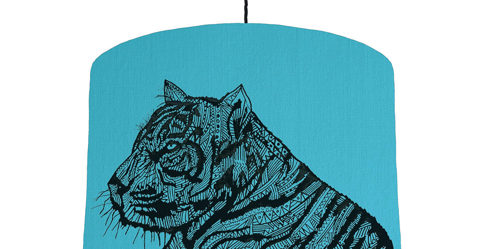 Tiger Shade - Turquoise Fabric