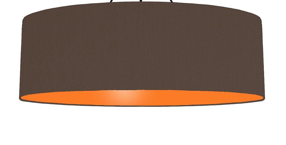 Brown & Orange Lampshade - 100cm Wide