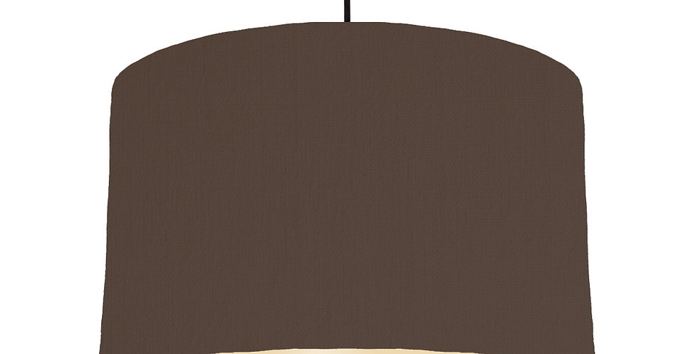 Brown & Ivory Lampshade - 40cm Wide