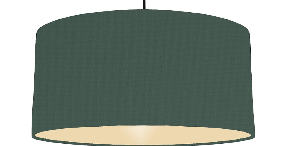 Bottle Green & Ivory Lampshade - 60cm Wide