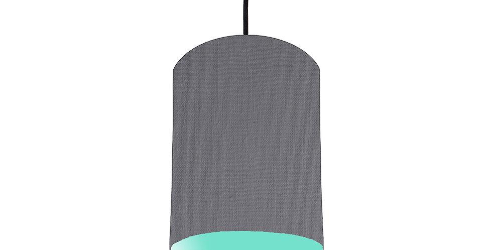 Dark Grey & Mint Lampshade - 15cm Wide
