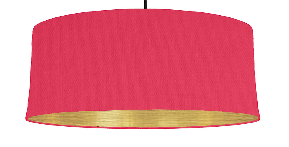 Cerise & Brushed Gold Lampshade - 70cm Wide