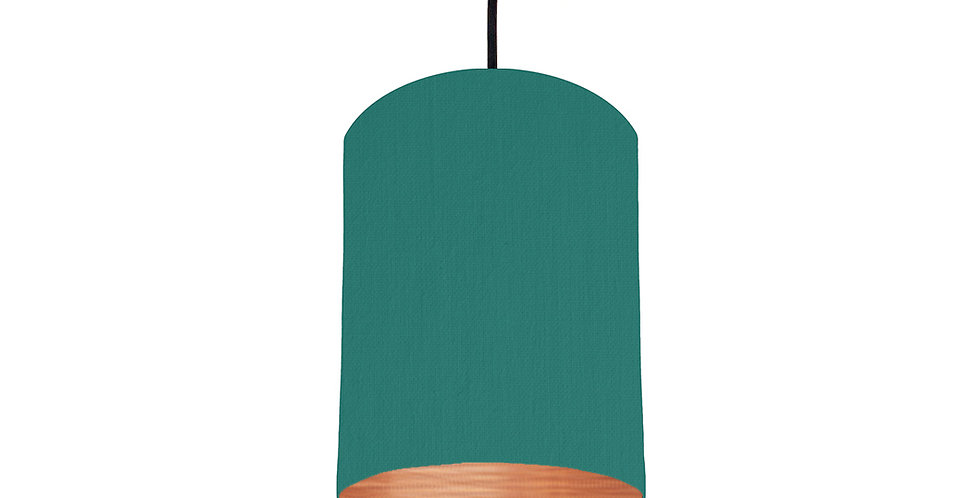 Jade & Brushed Copper Lampshade - 15cm Wide