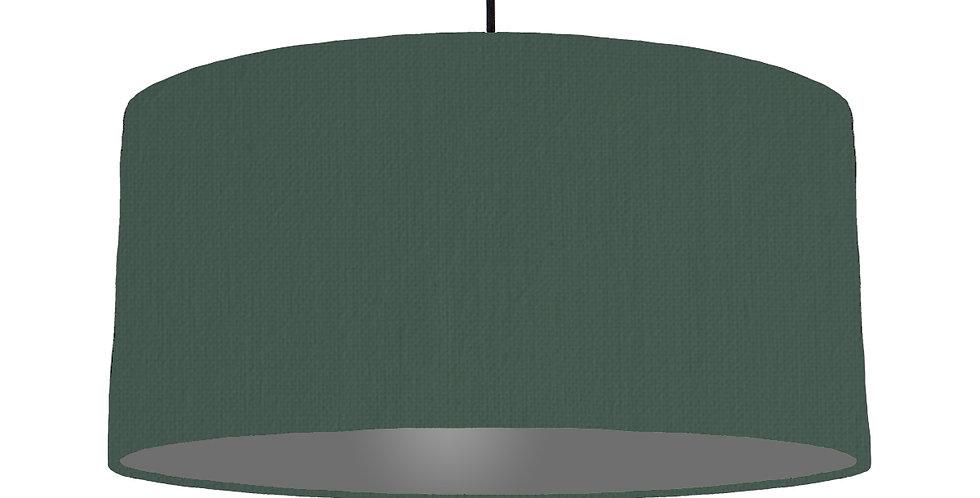 Bottle Green & Dark Grey Lampshade - 60cm Wide