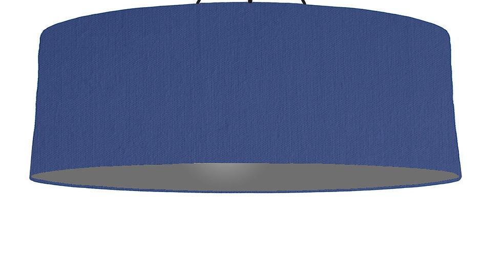Royal Blue & Dark Grey Lampshade - 100cm Wide