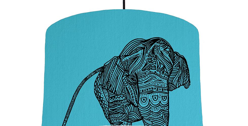 Elephant - Turquoise Fabric