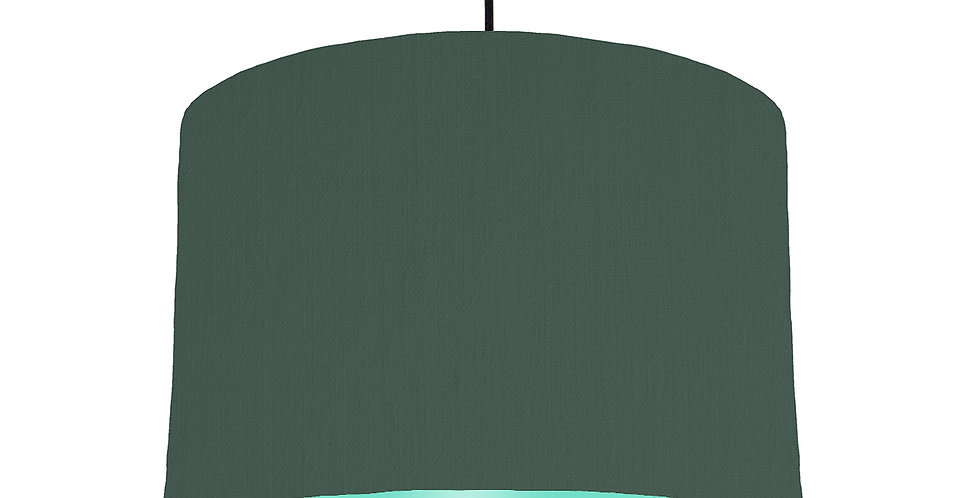 Bottle Green & Mint Lampshade - 30cm Wide