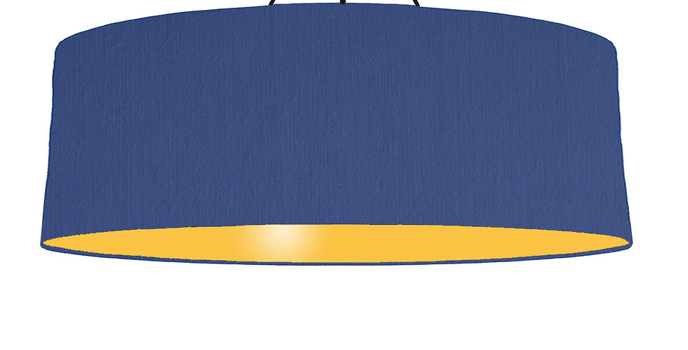 Royal Blue & Butter Yellow Lampshade - 100cm Wide