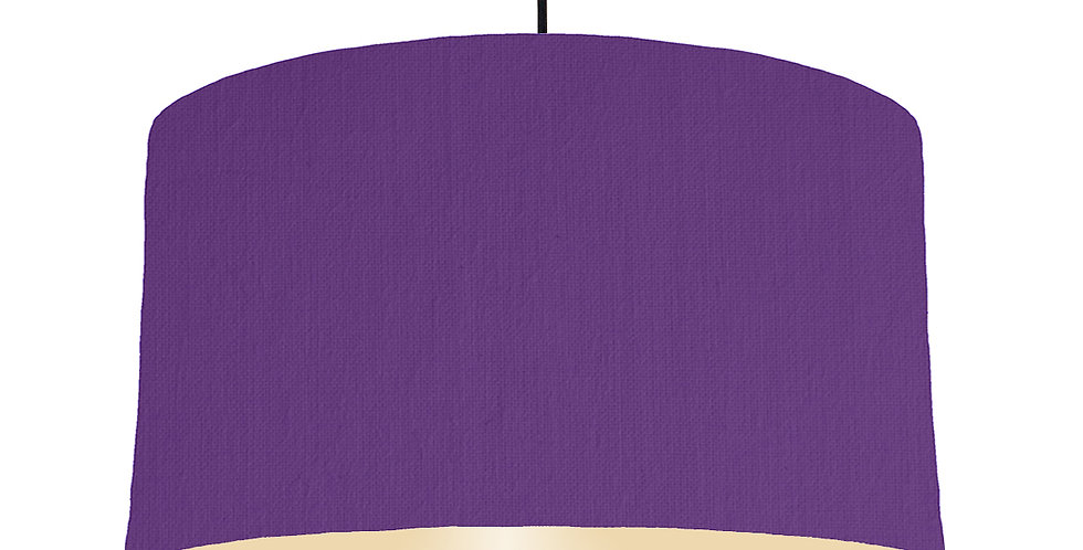 Violet & Ivory Lampshade - 50cm Wide