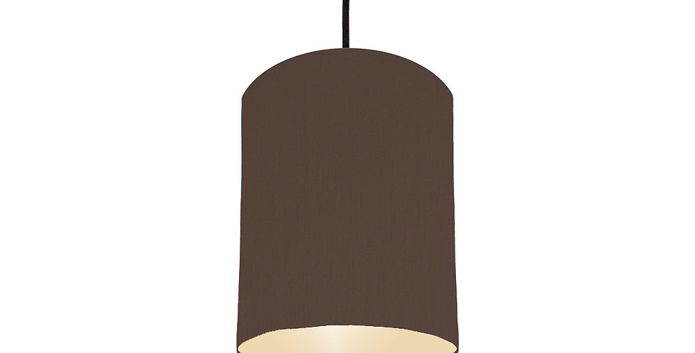 Brown & Ivory Lampshade - 15cm Wide