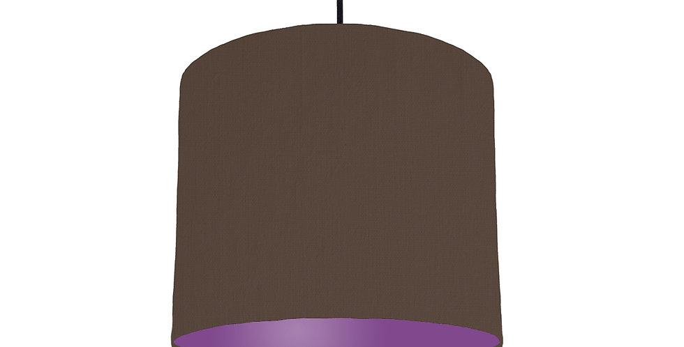 Brown & Purple Lampshade - 25cm Wide