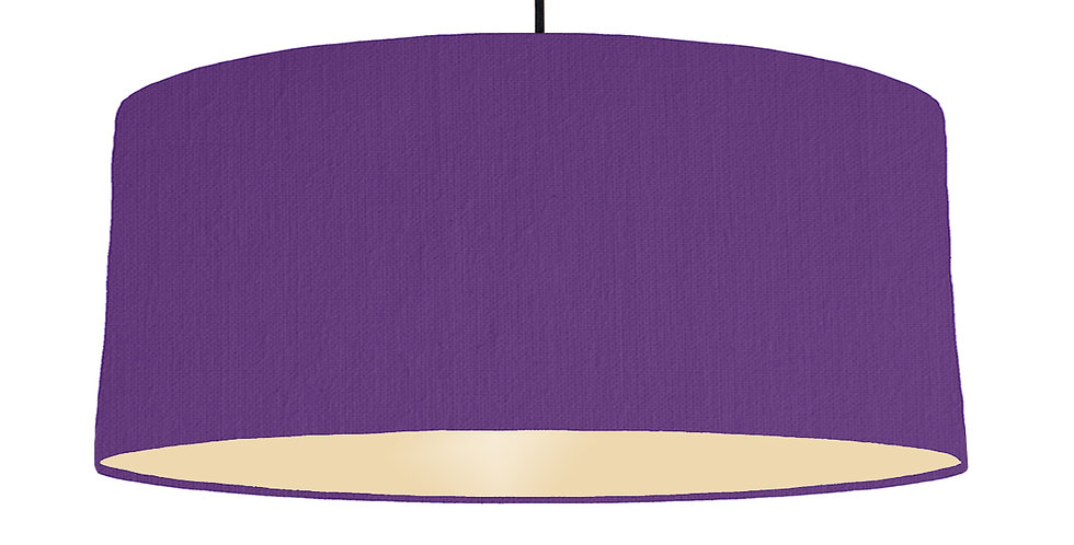 Violet & Ivory Lampshade - 70cm Wide