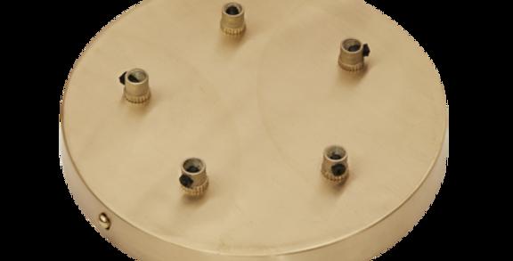 Industville Sleek Ceiling Rose - 5 Outlet - Brass