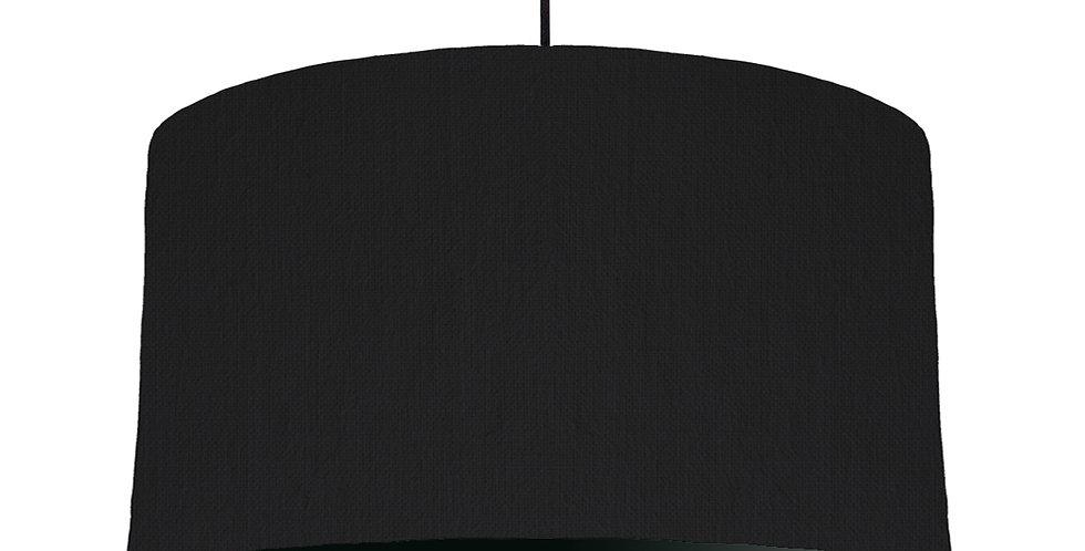 Black & Black Lampshade - 50cm Wide