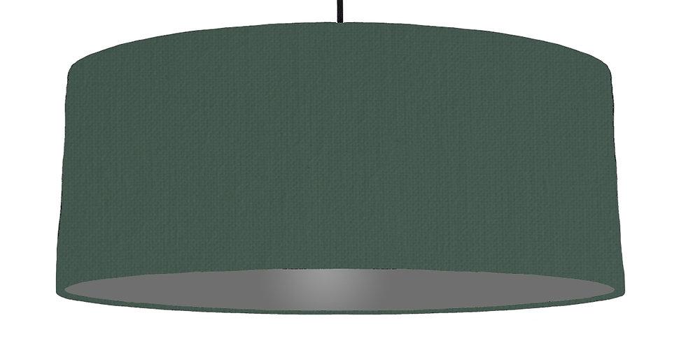 Bottle Green & Dark Grey Lampshade - 70cm Wide