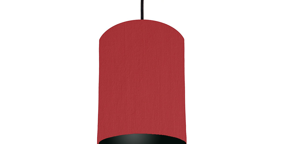 Red & Black Lampshade - 15cm Wide