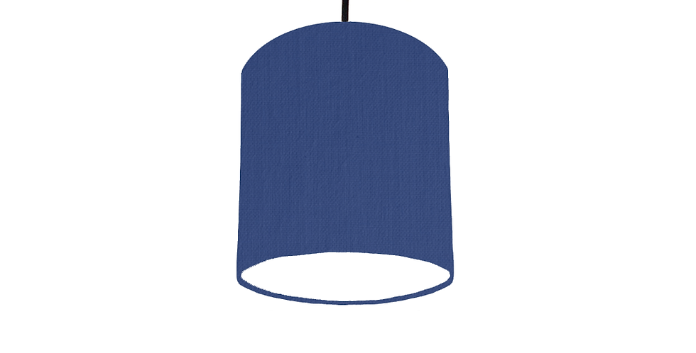 Royal Blue & White Lampshade - 15cm Wide