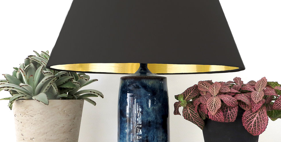 Conical Lampshade (30Tx40Bx30H) - Gold Mirror Lining