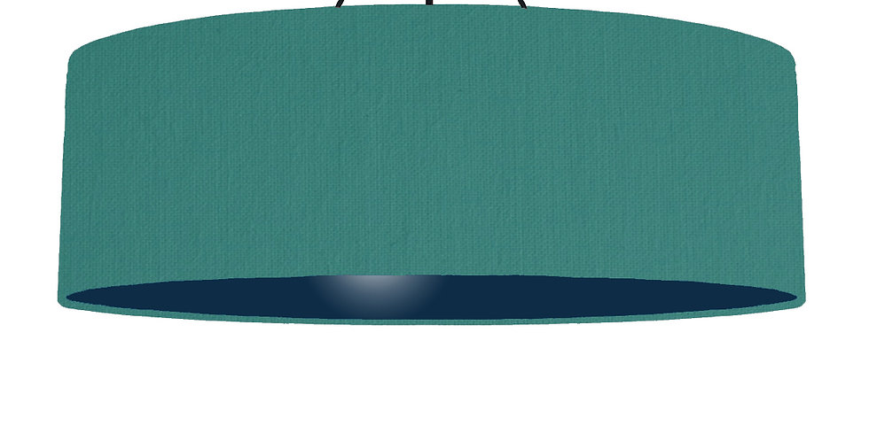 Jade & Navy Lampshade - 100cm Wide
