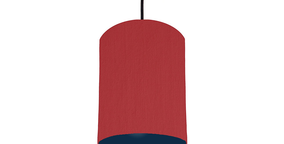Red & Navy Lampshade - 15cm Wide