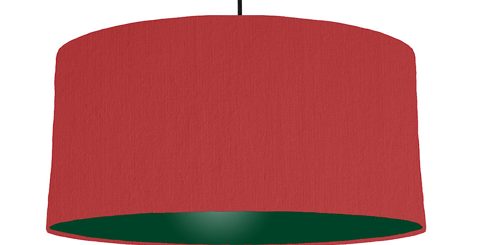 Red & Forest Green Lampshade - 60cm Wide