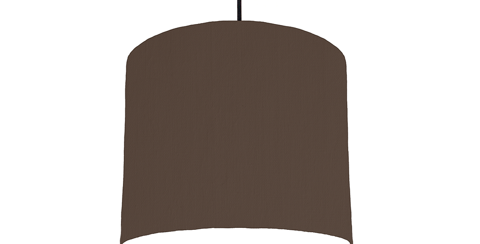 Brown & White Lampshade - 25cm Wide