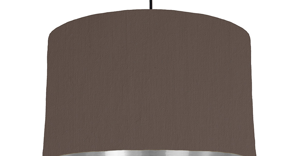 Brown & Silver Mirrored Lampshade - 40cm Wide