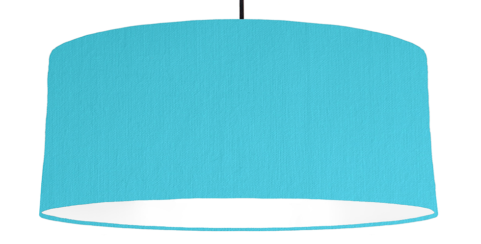 Turquoise & White Lampshade - 70cm Wide