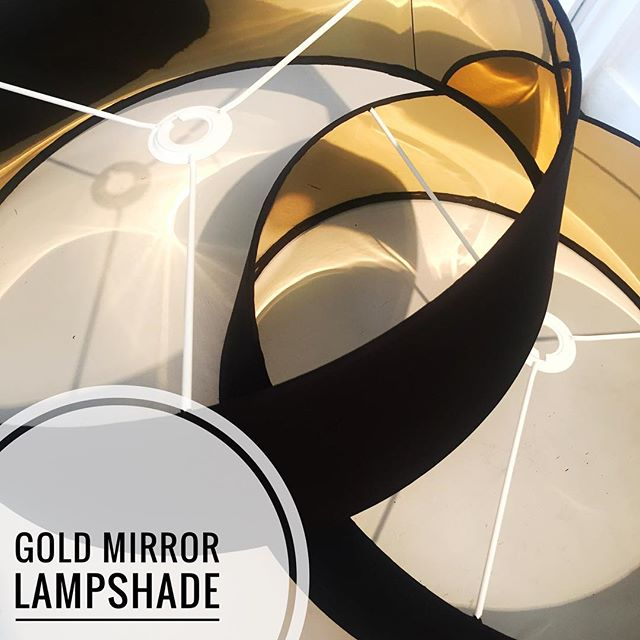 Black & Gold Lampshade