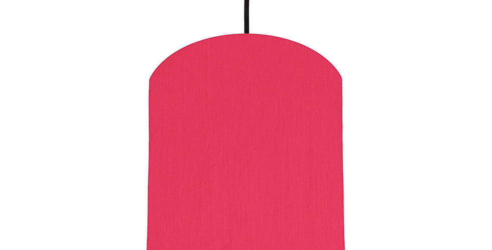 Cerise & Brushed Silver Lampshade - 20cm Wide