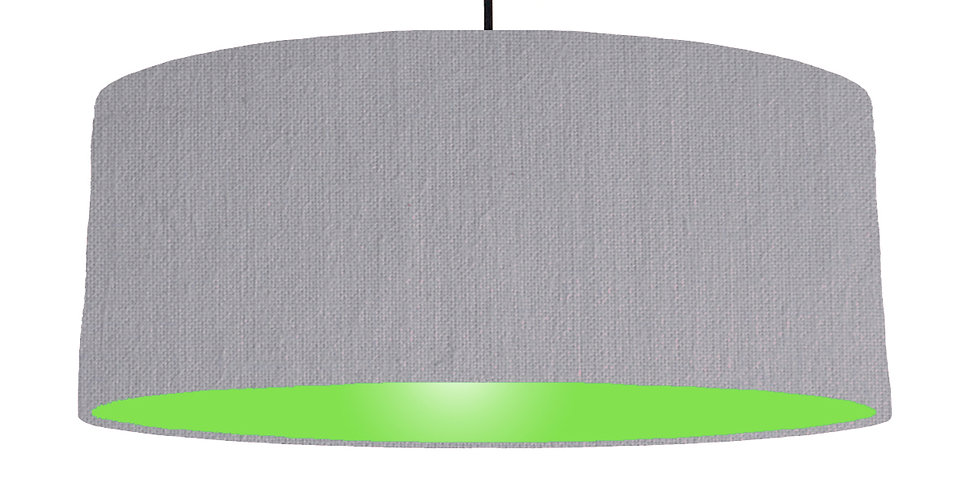 Light Grey & Lime Green Lampshade - 70cm Wide