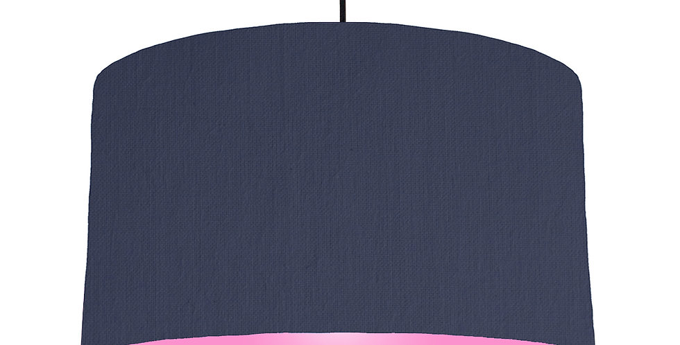 Navy Blue & Pink Lampshade - 50cm Wide