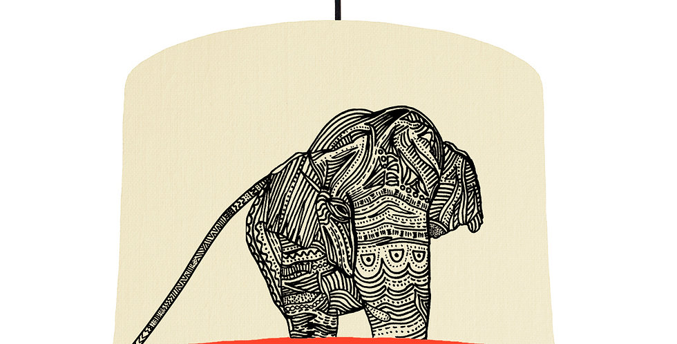 Elephant - Natural & Poppy Red
