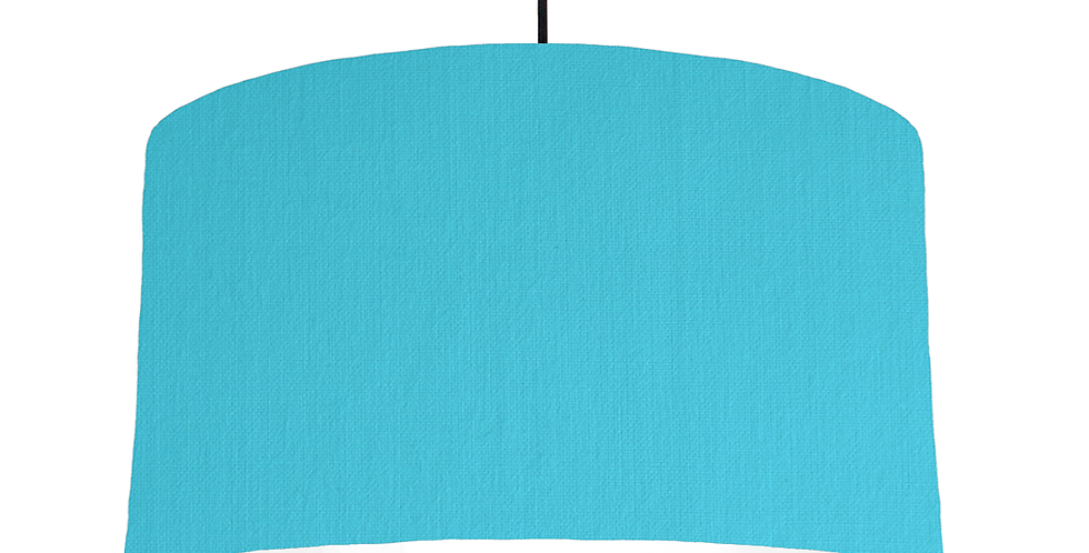 Turquoise & White Lampshade - 50cm Wide