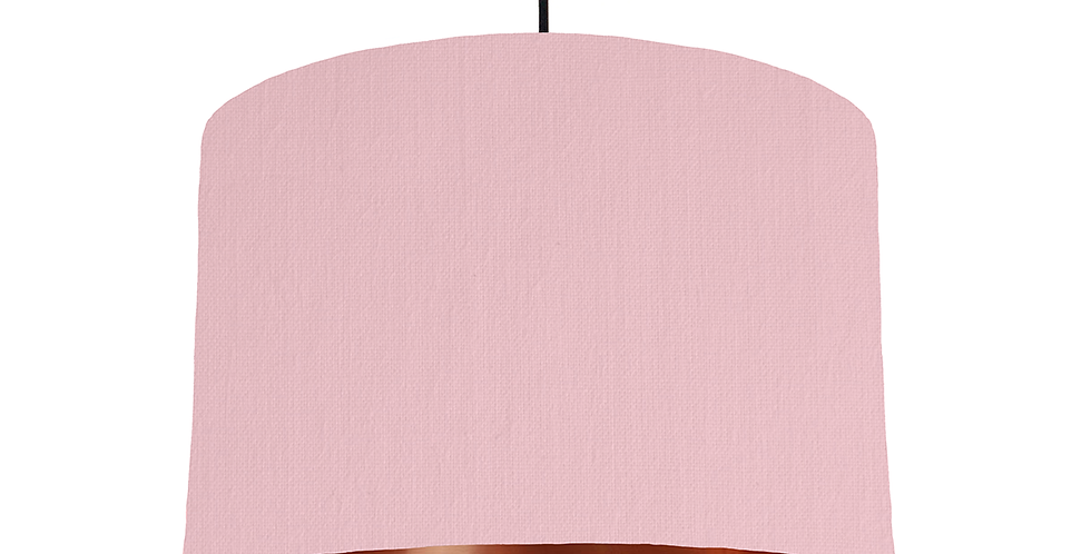Pink & Copper Mirrored Lampshade - 30cm Wide