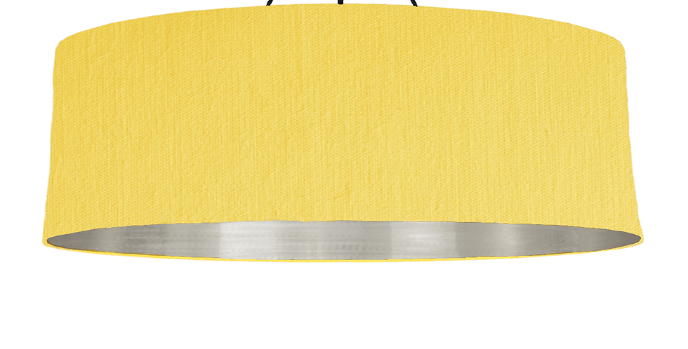 Lemon & Brushed Silver Lampshade - 100cm Wide