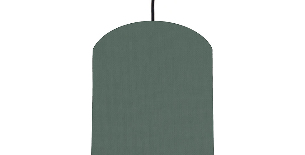 Bottle Green & Brushed Copper Lampshade - 20cm Wide