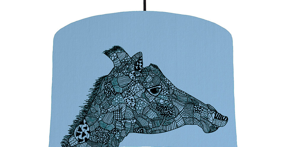 Giraffe - Sky Blue Fabric