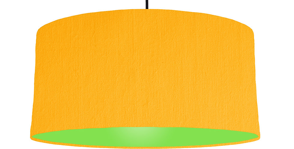 Sunshine & Lime Green Lampshade - 60cm Wide