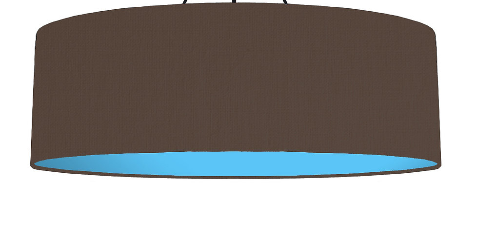 Brown & Light Blue Lampshade - 100cm Wide