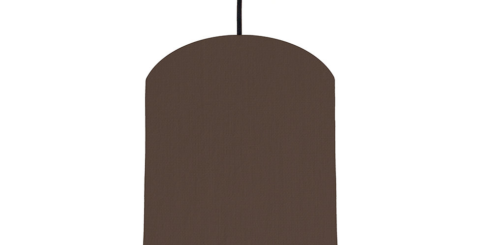 Brown & Butter Yellow Lampshade - 20cm Wide