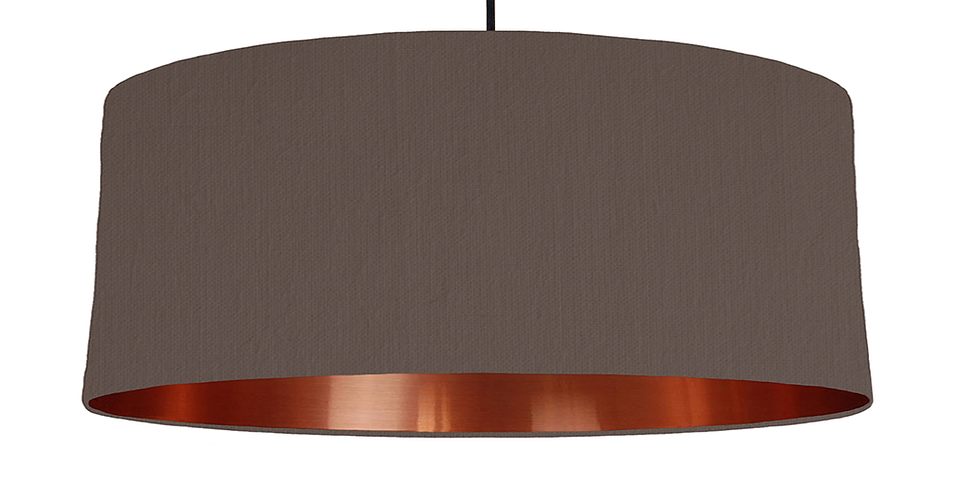 Brown & Copper Mirrored Lampshade - 70cm Wide