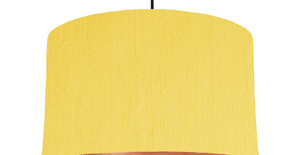 Lemon Yellow & Brushed Copper Lampshade - 40cm Wide